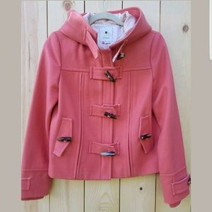 Anthropologie Elevenses Coral First Frost Coat 2